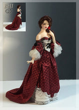 "Load image into Gallery viewer, bella donna  1"" scale dollhouse doll pattern"