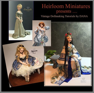 1:12 Miniature Art & Dollhouse Doll Patterns ~ BELLA DONNA By Dana Burton ~ Miniature Dolls
