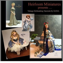 "Load image into Gallery viewer, 1/2 scale Dollhouse Mini Doll Pattern ~ Paulette Stinson ~ #PS547   3""  A LITTLE PRINCESS"