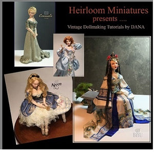 "1/2 scale Dollhouse Mini Doll Pattern ~ Paulette Stinson ~ #PS547   3""  A LITTLE PRINCESS"