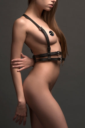 Harness Leather Top Double Belt