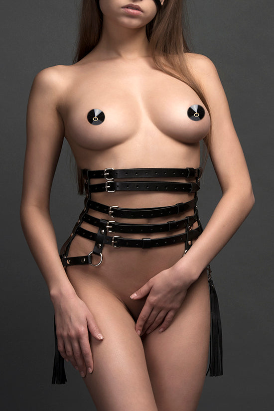 Load image into Gallery viewer, Leather Corset