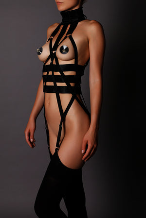 Load image into Gallery viewer, Harness Body Jumpsuit Kursa