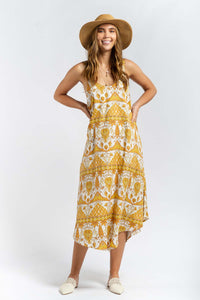 Lilah Linen-blend Maxi Dress-Ellie Code