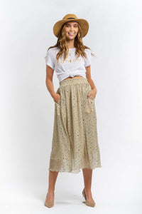 Mila Sequin Midi Skirt-Ellie Code