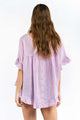 Cali Linen Top - PURPLE GINGHAM-Ellie Code