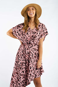 Yareli Leopard-print Midi Dress-Ellie Code