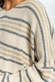 Cecilia Striped Cotton Sweater-Ellie Code