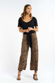 Ariana Leopard Knitted Pants - BLACK-Ellie Code