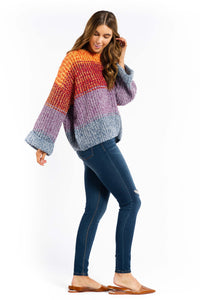 Angie Striped Sweater-Ellie Code