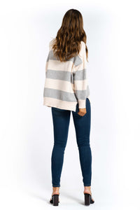 Tiana Striped Knitted Top-Ellie Code