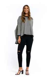 Demi Striped Jumper - BLACK-Ellie Code