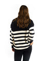 Millie Striped Knit Jumper - BLACK-Ellie Code