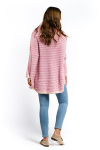 Kira Striped Sweater - PINK-Ellie Code