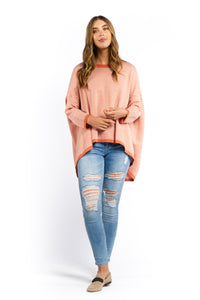 Demi Striped Jumper - RUST-Ellie Code