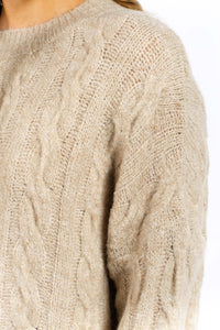 Aria Cable-knit Jumper-Ellie Code