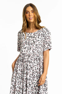 Lucia Leopard print Maxi Dress-Ellie Code