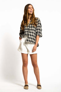 Carly Gingham Top - BIG CHECK-Ellie Code