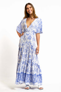 Veronika Floral Maxi Dress-Ellie Code