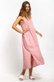Sofiya Gingham Maxi Dress - PINK-Ellie Code