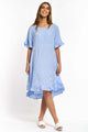 Lana Gingham Dress - BLUE-Ellie Code