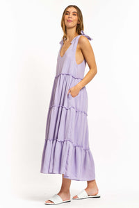 Oliana Cotton-blend Maxi Dress-Ellie Code