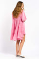 Anika Cotton Dress - HOT PINK