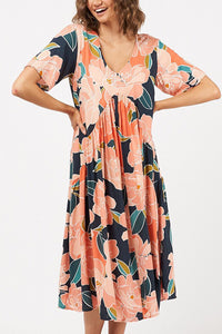 Amalfi Printed Maxi Dress-Ellie Code