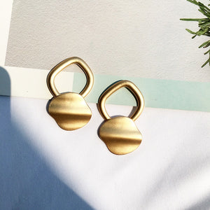 Gold Linked Drop Earrings-Ellie Code-Ellie Code