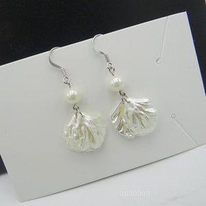 Ariel Shell Pearl Earrings