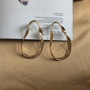 Gold Irregular Shape Hoop Earrings