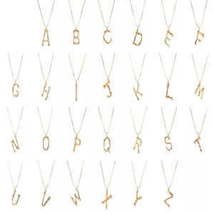 gold-tone-bamboo-Letter-Necklace