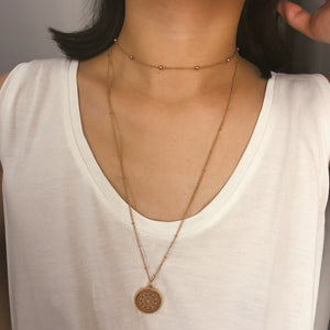 Rose-gold-tone-necklace