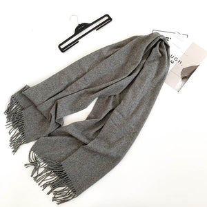 Wool-blended-scarf-grey