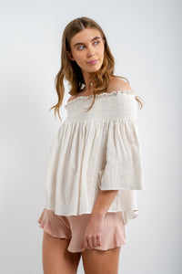 Hattie Linen Shorts-Sweet Pot-Ellie Code