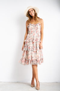 Molly Floral Midi Dress-White Closet-Ellie Code