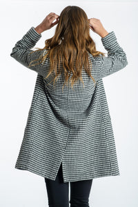 Bielle Houndstooth Coat-Pink Diamond-Ellie Code