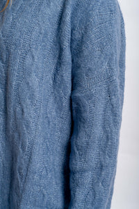 Aria Cable-knit Jumper - BLUE