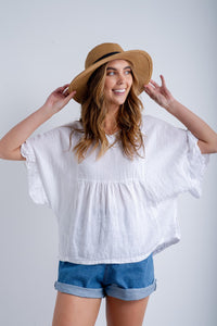Eva Linen Top-Ellie Code
