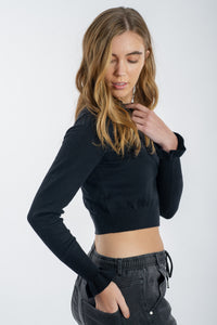 Poppy Knitted Top - BLACK-My Girl-Ellie Code