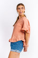 Cali Linen Top - BLUSH-Ellie Code