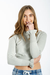 Poppy Knitted Top - GREY