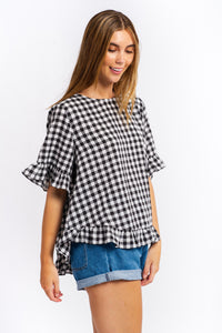 Cali Gingham Top-Ellie Code