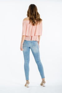 Leighton Off-the -shoulder Top-Ebby and I-Ellie Code