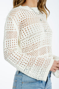 Tia Crochet-knit Top-Paper Heart-Ellie Code