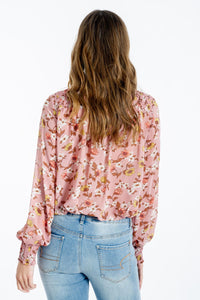 Ilaria Floral Print Top-White Closet-Ellie Code