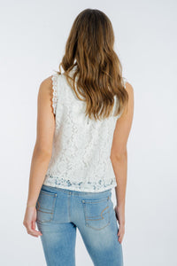 Lilianna Lace Top - WHITE-Ebby and I-Ellie Code