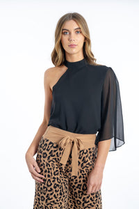 Dakota One-Shoulder Top-Ebby and I-Ellie Code