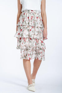 Eileen Floral Skirt-Ebby and I-Ellie Code