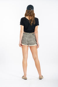 Leslee Leopard Denim Shorts-Paper Heart-Ellie Code